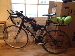 bike set up without tent and dry-bags