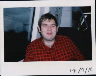 Mike on the train
