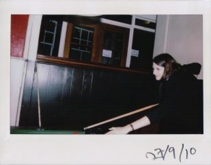 Jenny and our games of pool