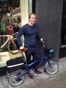 Proud Owner - Picking up my Brompton from Cycle Surgery in King Cross